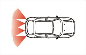 Detection zone parking sensors ultrasonic