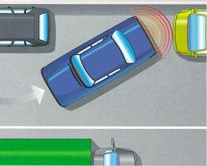 Parking sensors in reverse
