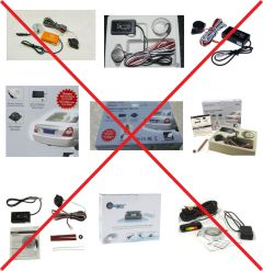 Parking sensors counterfeit