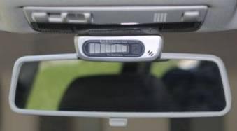 estacionamiento de la exhibición del espejo del sensor