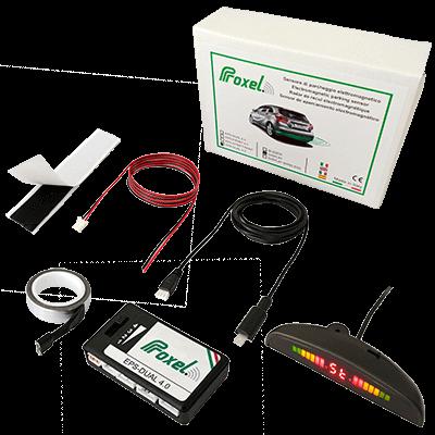 Kit proxel sensores aparcamiento electromagneticos invisibles eps dual 3 pantalla