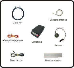 Sensori di parcheggio elettromagnetici invisibili posteriori