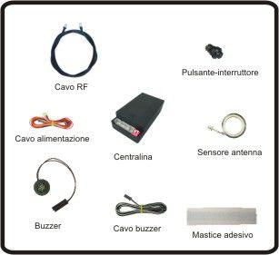 Sensori di parcheggio elettromagnetici invisibili anteriori EPS-DUAL 2.0