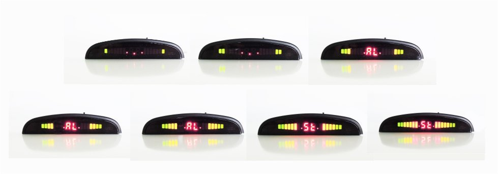 Sequenza led Display wireless sensori di parcheggio