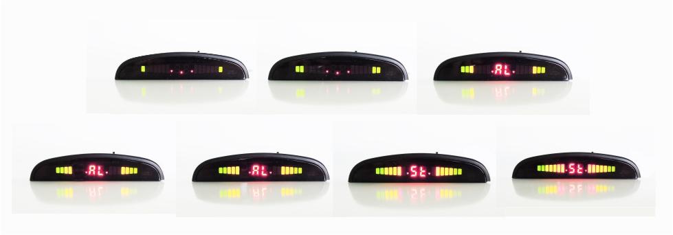 Sequenza led Display wireless sensori di parcheggio