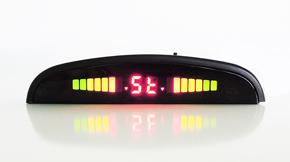 display led sensori parcheggio nero