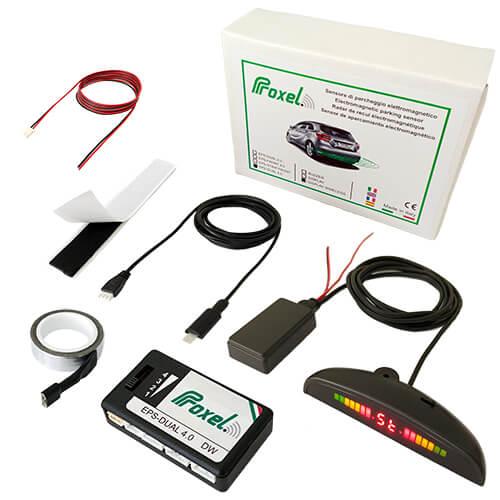 kit sensori parcheggio invisibili EPS-DUAL 4.0 kit display wireless