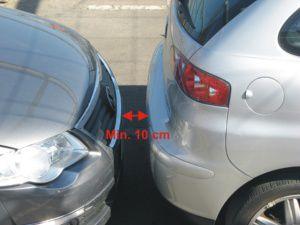 distanza sensori di parcheggio invisibili