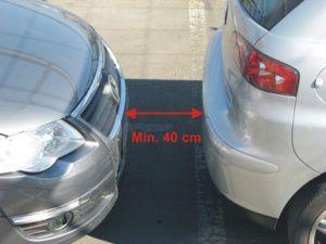 distanza sensori di parcheggio ultrasuoni